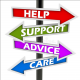 Advice support signpost Image